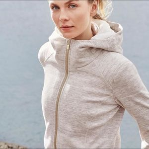 Athleta Luxe Stronger Hoodie Faux-Fur Lined